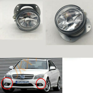 LH + RH Fog Lights Bumper Lamps For Mercedes Benz W204 W216 R230 W164 W251 AMG