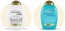 TWIN PACK OGX COCONUT MILK SHAMPOO + ARGAN OIL OF MOROCCO CONDITIONER 385ML 13OZ