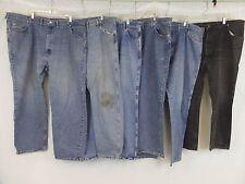 Lot of 6 Wrangler Men's (46x30) Medium Blue Denim Work Pants Jeans Comfort Fit