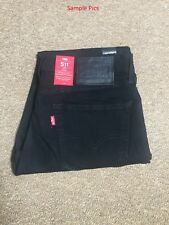 Levi's 511 Men Slim FIT BLACK NIGHT SHINE Jeans W33, L36 (04511-1507)