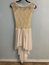 Ivory Lyrical Dance Costume, adult medium, never worn, with hair clip, curtain c