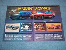 1990 Chevy Cavalier Z/24 Pontiac Turbo Sunbird GT Vintage Info Article