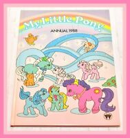 ❤️My Little Pony G1 Merchandise VTG 1988 Annual Hardcover Book Fireball❤️