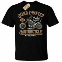 Hand Crafted Motorcycle T-Shirt Mens Biker top san diego vintage garage