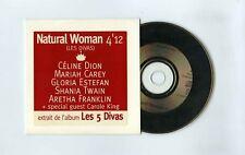 CD SINGLE (PROMO) LES 5 DIVAS NATURAL WOMAN(C.DION M.CAREY G.ESTEFAN A.FRANKLIN)