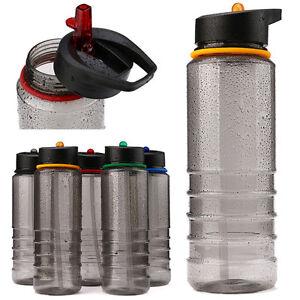 800ml Cycling Running Hydration Sport Water Bottle Flip Hiking Straw Water Drink