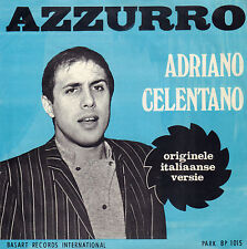 "ADRIANO CELENTANO ‎– Azzurro (1969 VINYL SINGLE 7"" RARE DUTCH PS)"