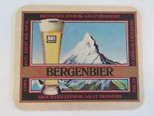 Vintage Beer Bar Coaster ~ Brouwerij ZEEBERG Aalst Brasserie Bergenbier, BELGIUM