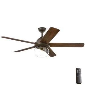 Home Decorators Avonbrook 56 in. LED Bronze Ceiling Fan w/ Remote Control