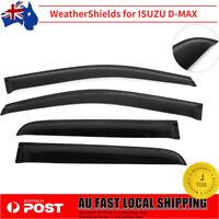 4x Injection Weathershields Weather Shields Window Visor for ISUZU DMAX 12-19 SJ