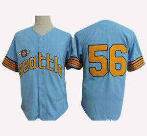 Jim Bouton #56 Seattle Pilots 1969 Cool Base Men's Stitched Jersey