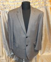 ANDREW FEZZA GRAY WORSTED WOOL/ SILK SPORT COAT JACKET SUEDE ELBOW PATCH SZ 44S