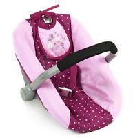 Bayer Chic 200070829Dolls Car Seat, Dots Blackberry, PurplePink