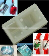1Pc Rectangle Cabochon Silicon 4 Holes Mold Resin Bracelet Making Craft Tool S5