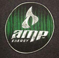 AMP ENERGY distressed logo small T shirt drink Pepsi tee Mountain Dew