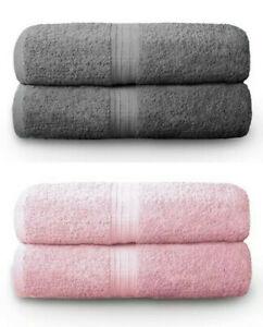 2 Piece Towel Bathroom Bath Towels Sheet Bale Soft Cotton Combed Soft 500GSM