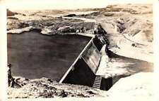 Grand Coulee Dam Washington Birds Eye View Real Photo Antique Postcard J72436