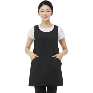 Line Gown LN6084 Black Pocket Apron Hair Salon Hairdresser Cafe Work Barista Spa