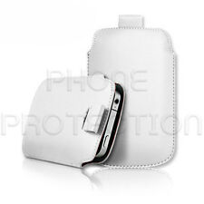 Premium PU Leather Pull Tab Pouch Case Cover For Various Mobile Phones