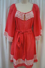 Swim Cover Milly Cabana Sz S Watermelon Pink Tunic Beach Dress Cover Up