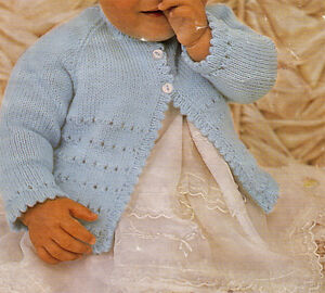 """Lovely Baby Matinee coat- knitting pattern in DK ,4ply, 3 Ply or BQK fits 18-19"""""""