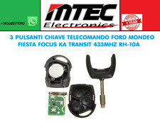 3 PULSANTI CHIAVE TELECOMANDO  FORD MONDEO FIESTA FOCUS KA TRANSIT 433MHZ RH-10A