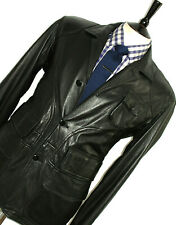 GORGEOUS MENS RALPH LAUREN SPORTS 100% LEATHER BIKER BOMBER JACKET COAT 42R