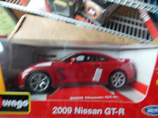 Rare 2009 Nissan Gtr in Red by Bburago, Free Shipping!