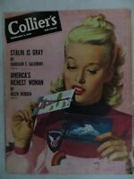 1946 February 9  Colliers Magazine  Artist Ray Jay Ashdown  VINTAGE ADS  Stalin
