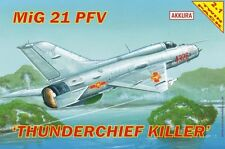 MiG 21 PFV/PF THUNDERCHIEF KILLER /DUAL SET/VIETNAMESE & OTHER MKGS) 1/72 AKKURA