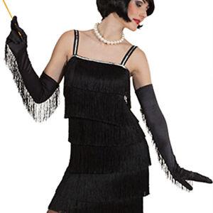 Lange Charleston Handschuhe 20er Jahre Damenhandschuhe Fransenhandschuhe schwarz