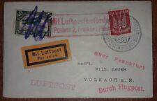 Luftpost Brief München 1925 Holztaube Postamt 2 Frankfurt am Main (38