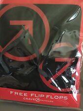 Calvin Klein Crave logo black Flip Flops In Package NOS RARE