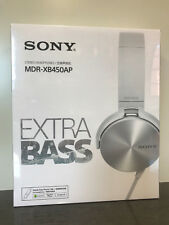 Brand New Sony Extra Bass MDR-XB450AP White Swivel Style Earphones Headphones