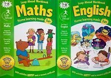 Year 3 English Maths Workbooks KS2, Age 7-8, 2 Books, Stickers, Activities, New