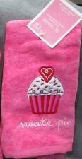 """Set of 2 Pink Cupcake """"Sweetie Pie"""" Towels NWT"""