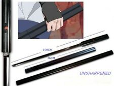 "S1607 ANIME NARUTO SASUKE KUSANAGI SWORD BLACK STRIP ON MATTE BLACK GUNMETAL 40"""