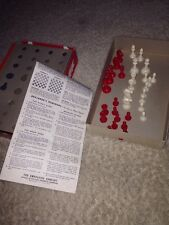 Vintage Plastic Chess Pieces! 32! Red & Ivory! No Board