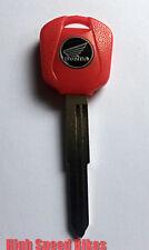 Honda CB CBR 600 900 1000 RR VTR VFR Schlüssel Rohling Rot *Transponderfach*