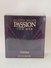 PASSION by Elizabeth Taylor's for MEN.  4 oz COLOGNE SPLASH Sealed Box.  VINTAGE