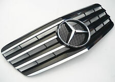 Black with Chrome fin grill for Mercedes E class W211 2007-2009 with OEM star