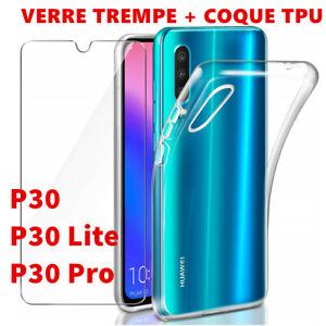 Glas Schutzfolie Hartglas Bildschirm Huawei P30 Lite Und Hülle Silikon