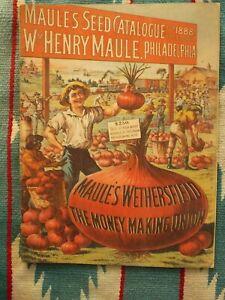 1888 MAULE'S SEED CATALOGUE PHILADELPHIA 52 Page Catalog Agriculture Company