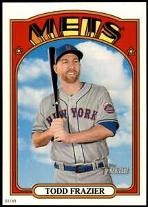 Todd Frazier 2021 Topps Heritage 5x7 #490 SP /49 Mets
