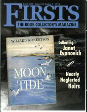 FIRSTS 3/13, rare US book collector mag, Janet Evanovich, rare noir crime books