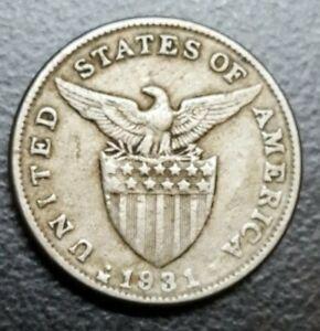 1931-M US ADMINISTRATION PHILIPPINES 5 CENTAVOS COIN MANILA MINT KM 175