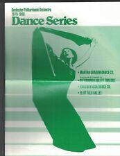 Martha Graham Dance Co Rochester Ny 1979 ad sheet