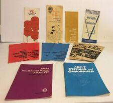 12 Vintage pamphlets On Venereal Diseases Herpes Syphilis Gonorrhea Scabes