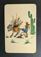 Mint Vintage Typical Mexican View Illustrated Postcard