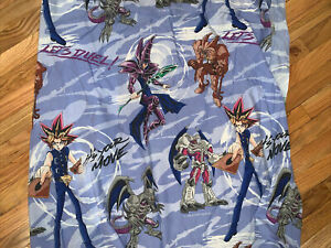 Vintage Yu-Gi-Oh Yugioh Twin Fitted Sheet 1996 Kazuki Takahashi Animation Card